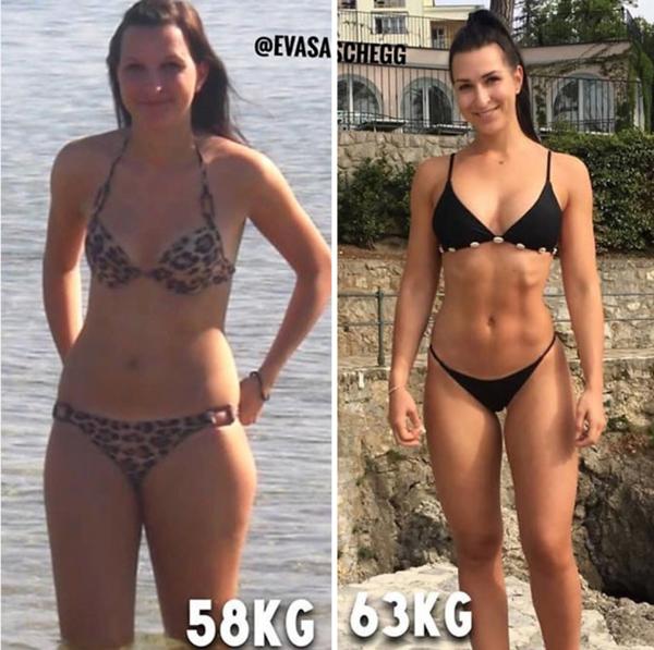 3 femela cu pierdere de grăsime corporală